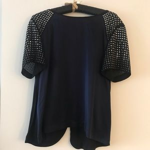 Statement Rebecca Taylor studded silk top